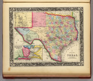 County Map Of Texas. 29. (with) inset map of Galveston Bay, and Vicinity. 30. Entered ... 1860, by S. Augustus Mitchell, Jr. ... Pennsylvania.