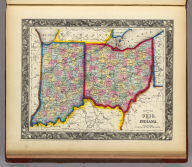 County Map Of Ohio, And Indiana. 31. Entered ... 1860, by S. Augustus Mitchell, Jr. ... Pennsylvania.