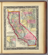 County Map Of California. 37. (with) two inset maps: Map Of The Settlements in the Great Salt Lake Country. Utah. 38. San Francisco Bay and Vicinity. 39. Entered ... 1860, by S. Augustus Mitchell, Jr. ... Pennsylvania.