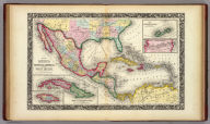Map Of Mexico, Central America, And The West Indies. 40. Constructed & Engraved by W. Williams Philadelphia. (with) four inset maps: Map of the Island of Cuba. 41. ... Island of Jamaica. 42. ... Bermuda Islands. 43. ... Panama Railroad. 44. Entered ... 1860, by S. Augustus Mitchell, Jr. ... Pennsylvania.