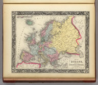 Map Of Europe, Showing Its Gt. Political Divisions. 55. Constructed & Engraved by W. Williams Phila. Entered ... 1860, by S. Augustus Mitchell, Jr. ... Pennsylvania.