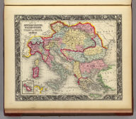 Map Of The Austrian Empire, Italian States. Turkey In Europe, And Greece. 67. (with) inset map Maltese Islands. 68. Entered ... 1860, by S. Augustus Mitchell, Jr. ... Pennsylvania.