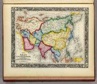 Map Of Asia Showing its Gt. Political Divisions, and also the Various Routes of Travel Between London & India, China & Japan &c. 69. Constructed & Engraved by W. Williams Phila. Entered ... 1860, by S. Augustus Mitchell, Jr. ... Pennsylvania.