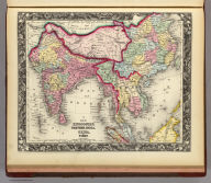 Map Of Hindoostan, Farther India, China, and Tibet. 72. Constructed & Engraved by W. Williams Phila. Entered ... 1860, by S. Augustus Mitchell, Jr. ... Pennsylvania.