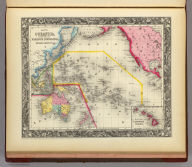 Map Of Oceanica Exhibiting Its Various Divisions, Island Groups &c. 73. (with) inset Map Of The Sandwich Islands. 74. Entered ... 1860, by S. Augustus Mitchell, Jr. ... Pennsylvania.