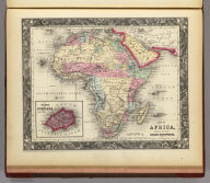 Map Of Africa, Showing Its Most Recent Discoveries. 75. Constructed & Engraved by W. Williams. Philadelphia. 75. (with) inset map Island Of St. Helena. 76. Entered ... 1860, by S. Augustus Mitchell, Jr. ... Pennsylvania.