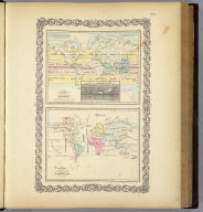 Map of The World Illustrating The Principal Features Of Meteorology. (with) Rain Map (with) Map of The World Showing the Distribution And Limits of Cultivation of The Principal Plants Useful To Mankind. Entered ... 1855 by J.H. Colton & Co. ... New York. No. VI.
