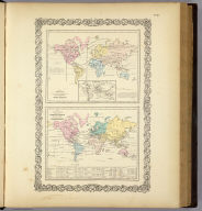 Map of The World Showing the Geographical Distribution & Range of The Principal Members of The Animal Kingdom (with) Bird Map (with) Map of The World Illustrating the Productive Industry Of Various Countries, & exhibiting the principal features of Commerce And Navigation. Entered ... 1855 by J.H. Colton & Co. ... New York. No. VII.