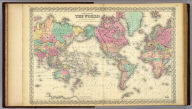 Colton's Map Of The World On Mercator's Projection. Published by J.H. Colton And Co. 172 William St. New York. Entered ... 1855 by J.H. Colton & Co. ... New York. No. VIII-IX.