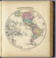 Western Hemisphere. Published by J.H. Colton And Co. 172 William St. New York. Entered ... 1855 by J.H. Colton & Co. ... New York. No. X.