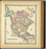 North America. Published by J.H. Colton And Co. 172 William St. New York. Entered ... 1855 by J.H. Colton & Co. ... New York. No. 2.