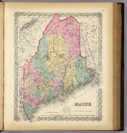 Maine. Published by J.H. Colton & Co. 172 William St. New York. Entered ... 1855 by J.H. Colton & Co. ... New York. No. 9.
