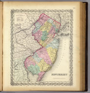 New Jersey. Published by J.H. Colton & Co. 172 William St. New York. Entered ... 1855 by J.H. Colton & Co. ... New York. No. 19.