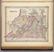 Virginia. (with) two inset maps: Richmond Henrico County, Manchester and Springhill Chesterfield Co., Norfolk, Portsmouth And Gosport. Published By J.H. Colton & Co. No. 172 William St. New York. Entered ... 1855 by J.H. Colton & Co. ... New York. No. 25.