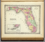 Florida. (with) Plan Of The Florida Keys. Published By J.H. Colton & Co. No. 172 William St. New York. Entered ... 1855 by J.H. Colton & Co. ... New York. No. 30.