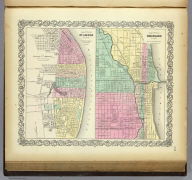 The City Of St. Louis Missouri. (with) The City Of Chicago Illinois. Published By J.H. Colton & Co. No. 172 William St. New York. Entered ... 1855 by J.H. Colton & Co. ... New York. No. 45.