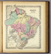Brazil And Guayana (with) two inset maps: Pernambuco and Rio de Janeiro. Published By J.H. Colton & Co. No. 172 William St. New York. Entered ... 1855 by J.H. Colton & Co. ... New York. No. 61.