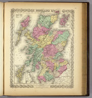 Scotland. (with) two inset maps: Orkney Isles and Shetland Isles. Published By J.H. Colton & Co. No. 172 William St. New York. Entered ... 1855 by J.H. Colton & Co. ... New York. No. 5.