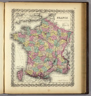 France (with) Corsica. Published By J.H. Colton & Co. No. 172 William St. New York. Entered ... 1855 by J.H. Colton & Co. ... New York. No. 7.