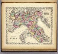 Northern Italy: Lombardy & Venice, Sardinia, Tuscany, Parma, Modena, Lucca, And The States Of The Church. Published By J.H. Colton & Co. No. 172 William St. New York. Entered ... 1855 by J.H. Colton & Co. ... New York. No. 18.