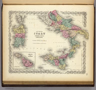 Southern Italy: Kingdom Of Naples, I. Sardinia & Malta. (with) Malta and its Dependencies. Published By J.H. Colton & Co. No. 172 William St. New York. Entered ... 1855 by J.H. Colton & Co. ... New York. No. 19.
