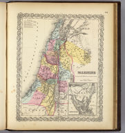 Palestine (with) Arabia Petraea. Published By J.H. Colton & Co. No. 172 William St. New York. Entered ... 1855 by J.H. Colton & Co. ... New York. No. 26.