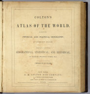 Title Page: Colton's atlas of the World.
