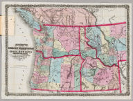 Bancroft's Map Of Oregon, Washington, Idaho, Montana And British Columbia. Published By A.L. Bancroft, & Compy. Booksellers & Stationers San Francisco, Cal. 1872. Entered ... 1872 by A.L. Bancroft & Co. ... Washington D.C.