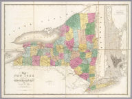 Map of New York Exhibiting the Post Offices, Post Roads, Canals, Rail Roads, &c. By David H. Burr. (Late Topographer to the Post Office.) Geographer to the House of Representatives of the U.S. (with) City And County Of New-York Brooklyn, Williamsburg & Jersey City. John Arrowsmith. Entered ... July 10th, 1839, by David H. Burr ... District of Columbia.