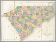Map of North And South Carolina Exhibiting the Post Offices, Post Roads, Canals, Rail Roads, &c. By David H. Burr. (Late Topographer to the Post Office.) Geographer to the House of Representatives of the U.S. John Arrowsmith. Entered ... July 10th, 1839, by David H. Burr ... District of Columbia.