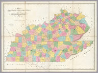 Map of Kentucky & Tennessee.