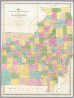 Map of Illinois & Missouri Exhibiting the Post Offices, Post Roads, Canals, Rail Roads, &c. By David H. Burr. (Late Topographer to the Post Office.) Geographer to the House of Representatives of the U.S. John Arrowsmith. Entered ... July 10th, 1839, by David H. Burr ... District of Columbia.