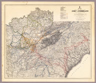 Map Prepared to exhibit the Campaigns in which the Army Of The Cumberland Took part during the War of the Rebellion. By order of Maj. Genl. Geo. H. Thomas. U.S.A. Compiled under the direction of Bvt. Major Genl. Z.B. Tower Chief Engr. Military Div. of the Tenn. by Ed. Ruger, Supt. Topl. Engr. Office at Nashville. Assistants. Capt. A. Kilp & Lieut. R. Flach 3rd U.S.C.A. (Heavy) & Asst. Top. Engrs. ... Photolith. by the N.Y. Lithg. Engrg. & Prtg. Co. 16 & 18 Park Place.