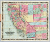 (Covers to) Bancroft's Map Of California, Nevada, Utah And Arizona. Published By H.H. Bancroft, & Compy. Booksellers & Stationers San Francisco Cal. 1864. Entered ... 1863, by H.H. Bancroft & Company ... California.