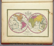 A New Map Of The World on the Globular Projection. Philadelphia. Published By S. Augustus Mitchell, N.E. corner of Market & 7th Streets. 1846.