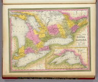 Canada West Formerly Upper Canada. (with) inset map of Lake Superior. Published By S. Augustus Mitchell. N.E. Corner of Market & 7th Streets, 1846.