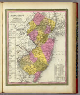 New Jersey Reduced From T. Gordon's Map By H.S. Tanner. Published By S. Augustus Mitchell, N.E. corner of Market & 7th Street Philada., 1846. Entered ... 1834 by T. Gordon ... New Jersey.