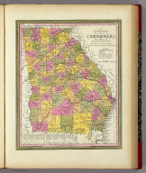 A New Map Of Georgia With Its Roads & Distances. Published By S. Augustus Mitchell, N.E. corner of Market & 7th Street Philada., 1846. Entered ... 1846 by H.N. Burroughs ... Pennsylvania.