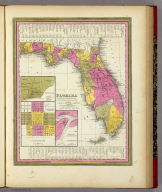 Florida. (with) three inset maps: Pensacola, Tallahassee, Harbour of St. Augustine. Published By S. Augustus Mitchell, N.E. corner of Market & 7th Street Philada., 1846. Entered ... 1846 by H.N. Burroughs ... Pennsylvania.