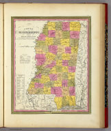 New Map Of Mississippi.