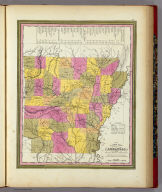 A New Map Of Arkansas with its Canals, Roads & Distances. Published By S. Augustus Mitchell, N.E. corner of Market & 7th Street Philada., 1846. Entered ... 1846 by H.N. Burroughs ... Pennsylvania.