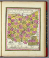 A New Map Of Ohio with its Canals Roads And Distances. (with) Cincinnati. Published By S. Augustus Mitchell, N.E. corner of Market & 7th Street Philada., 1846. Entered ... 1846 by H.N. Burroughs ... Pennsylvania.