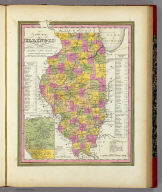 A New Map Of Illinois With Its Proposed Canals Roads And Distances from place to place along the Stage & Steam Boat Routes (with) Lead Region. Published By S. Augustus Mitchell, N.E. corner of Market & 7th Street Philada., 1846. Entered ... 1846 by H.N. Burroughs ... Pennsylvania.
