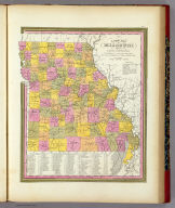 A New Map Of Missouri With Its Roads And Distances. Published By S. Augustus Mitchell, N.E. corner of Market & 7th Street Philada., 1846. Entered ... 1846 by H.N. Burroughs ... Pennsylvania.