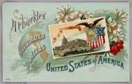 (Front cover to) Arbuckles' lllustrated Atlas of the United States of America. Copyright 1889, Arbuckle Bros. N.Y.