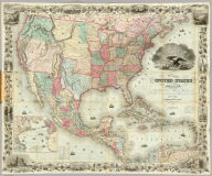 Map Of The United States Of America, The British Provinces, Mexico, the West Indies and Central America, with part of New Grenada and Venezuela. New York, Published By J.H. Colton, No. 86 Cedar St. 1849. Map Drawn by Geo. W. Colton, Engraved by John M. Atwood, Border Desigd. & Engd. by W.S. Barnard. Entered ... 1848 by J.H. Colton ... New York. (inset) A Map Of The Atlantic Ocean Showing The American & European Ports and the Routes Of The Ocean Steamers.