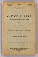 (Covers to) Map of Alaska Showing Known Gold-Bearing Rocks With Descriptive Text Containing Sketches of the Geography, Geology, and Gold Deposits and Routes to the Gold Fields. 55th Congress, 2d Session, Senate Doc. 195. Prepared in accordance with Public Resolution No. 3 of the Fifty-fifth Congress Second Session, Approved January 20, 1898. Printed in the Engraving and Printing Division of the United States Geological Survey, Washington, D.C. 1898.