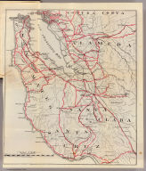 (Untitled map of the South Bay including San Mateo, Santa Cruz, Santa Clara, Alameda, and Contra Costa Counties.)