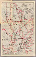 (Untitled map of the area around Sacramento and Marysville including Colusa, Yolo, Napa, Butte, Yuba, Sutter, Solano, and Sacramento Counties.)