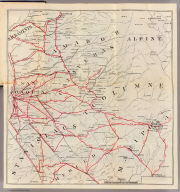 (Untitled map of the Central Valley area including Sacramento, Amador, Calaveras, San Joaquin, Tuolumne, Stanislaus, Merced, and Mariposa Counties.)